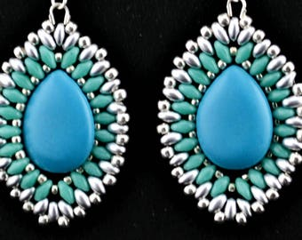 Beaded Turquoise earrings