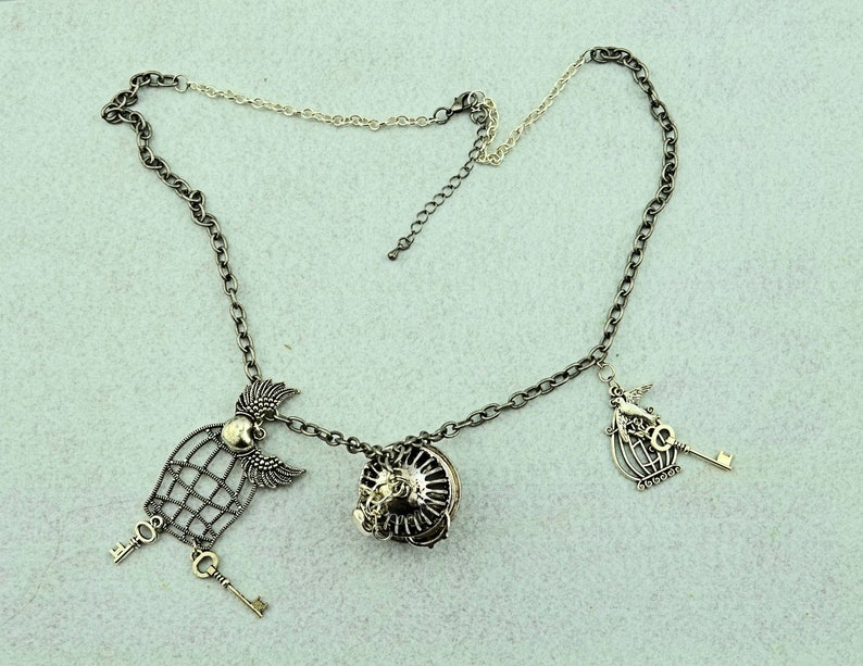 Bird Cage Necklace Set