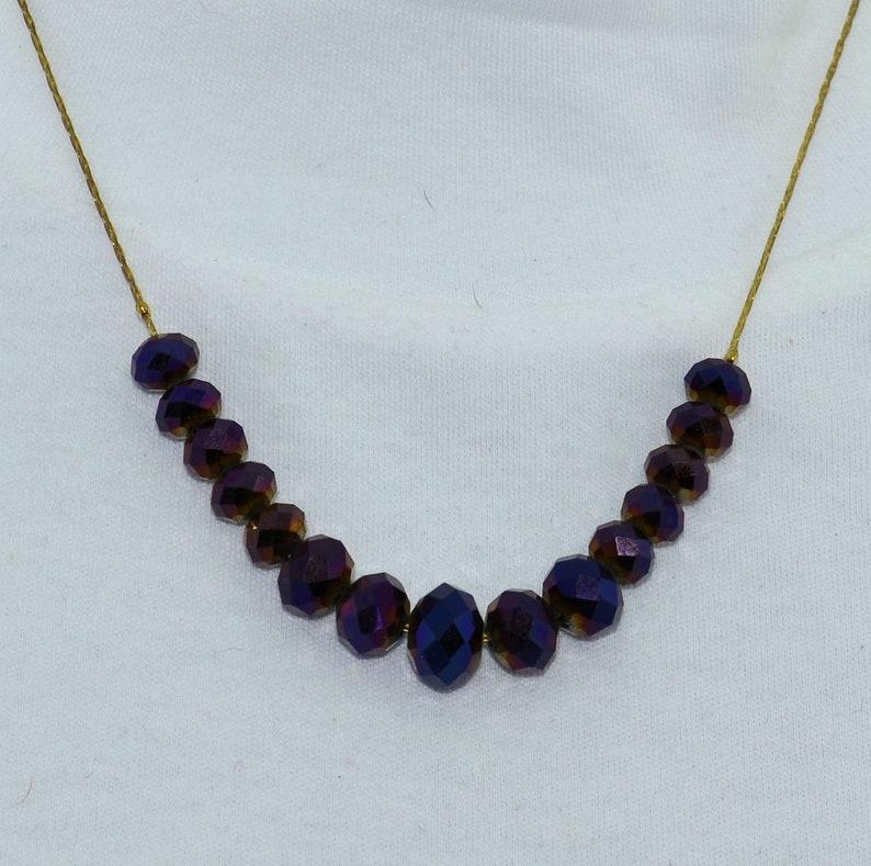 Purple swarvoski crystal Necklace set