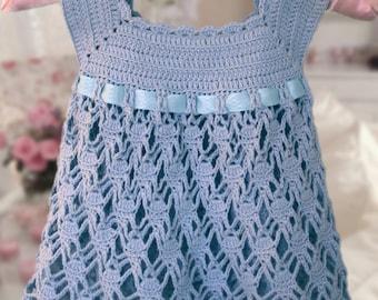 Christening Baptism Dress Crocheted Baby Blessing