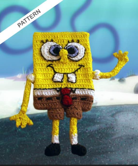 Spongebob Squarepants Cell Phone Case Crochet Pattern Etsy