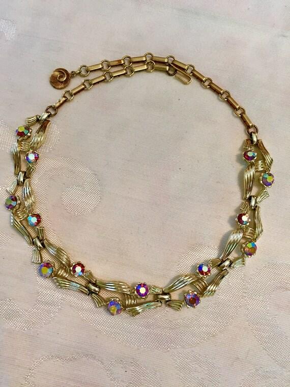 Vintage LISNER Choker Necklace   Lisner Necklace