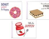 Items similar to Puns, Kitchen Puns, Kids' Desserts Set of 3