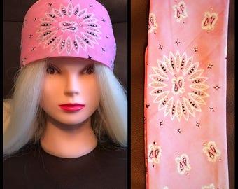 Light Pink Bling Bandana Full star
