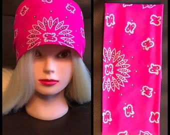 Hot Pink Bling Bandana
