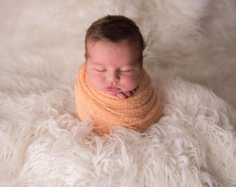 Peach Newborn Stretch Wrap is a perfect Photo Prop,Rayon Stretch Knit wrap, Newborn Wrap, Stretch Wrap, Stretchy wrap, Photography prop