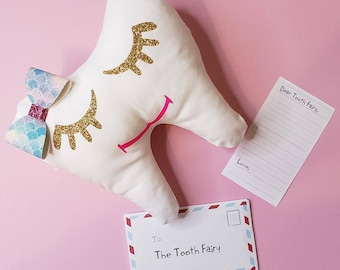 Tooth fairy Pillow, Tooth pillow, personalized tooth fairy pillow, girls tooth fairy pillow, Cute Tooth Pillow, Tooth keepsake, tooth pocket