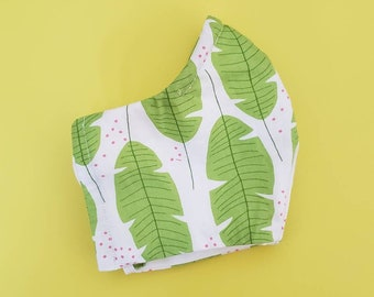 Facemask, Washable facemask, 100% Cotton Facemask, Reusable Facemask, Elastic fabric Facemask,Women Facemask, Tropical Facemask