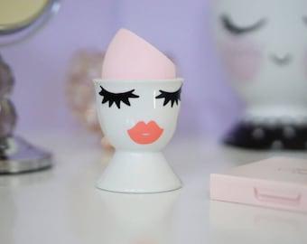 Beauty Blender Holder, Pretty Makeup Organizer, Girlie Makeup Storage, Beauty Sponge Cup, Vanity Decoration,wedding ring dish