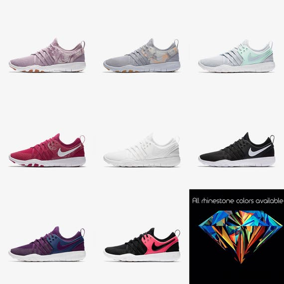 pretty nice d1c7b c6218 ... low cost womens nike free tr7 crystal nike free tr7 sneakers bling nike  etsy e0459 5a7d2