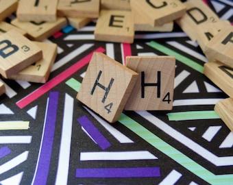 'H' Nostalgic Scrabble Studs