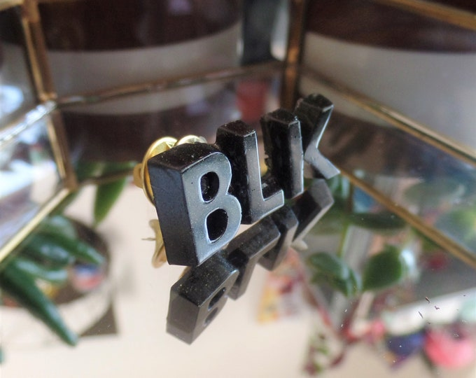 Black BLK Pin