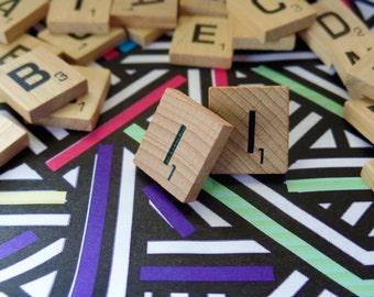 'I' Nostalgic Scrabble Studs