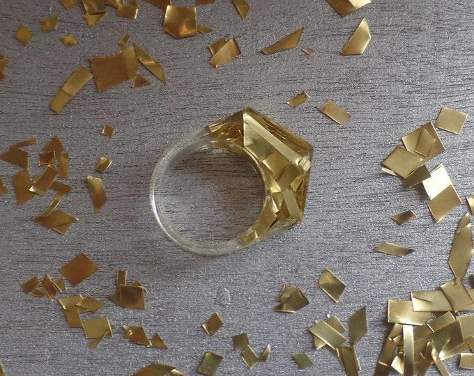 Brass Angled Ring