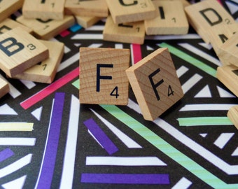 'F' Nostalgic Scrabble Studs