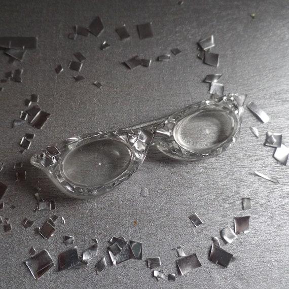 Silver Cat Eye Glasses Hair Pin