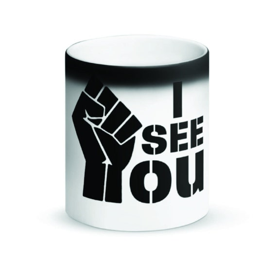 I See You Magic Mug Black Matte