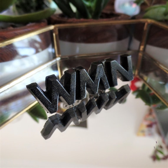 Black WMN Pin