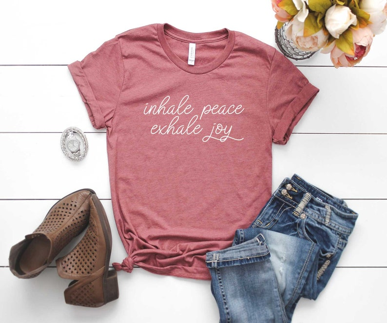 Peace Shirt Peace Shirt. Human Rights Inspirational Shirt Kind Human Inhale Peace Exhale Joy Shirt Super Soft /& Comfy Unisex T-Shirt