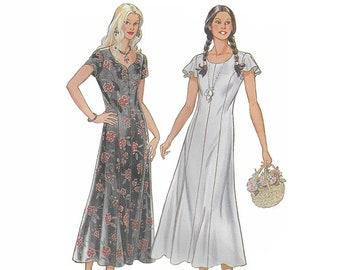 UNCUT New Look 6354, 1990s Misses' Dress Sewing Pattern, Size 10 to 22, Women Princess Seams Dress Pattern, Sweetheart/Round Neckline Dress