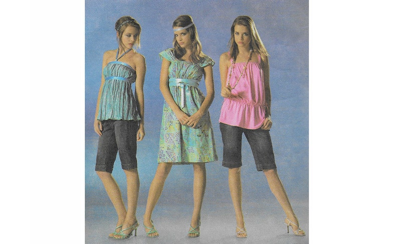 be1b397548bc UNCUT Burda 7912 Teen s Misses  Dress   Top Pattern