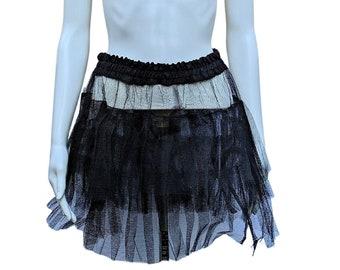 Vintage 1980s or 90s black tulle crinoline