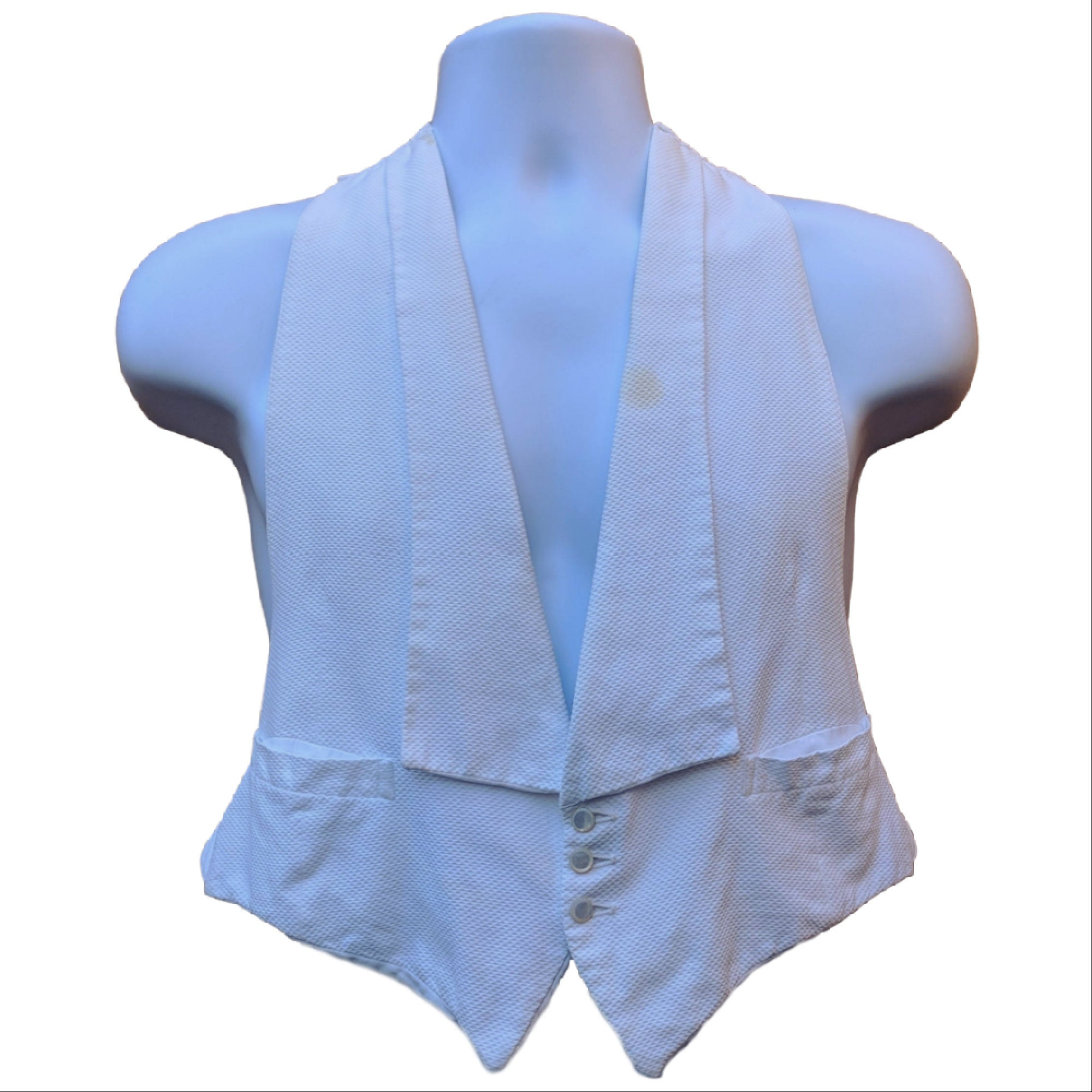 Men's 1920s Style Ties, Neck Ties & Bowties Discounted Vintage 1920s Or 30s Mens White Tuxedo Dinner Vest $0.00 AT vintagedancer.com