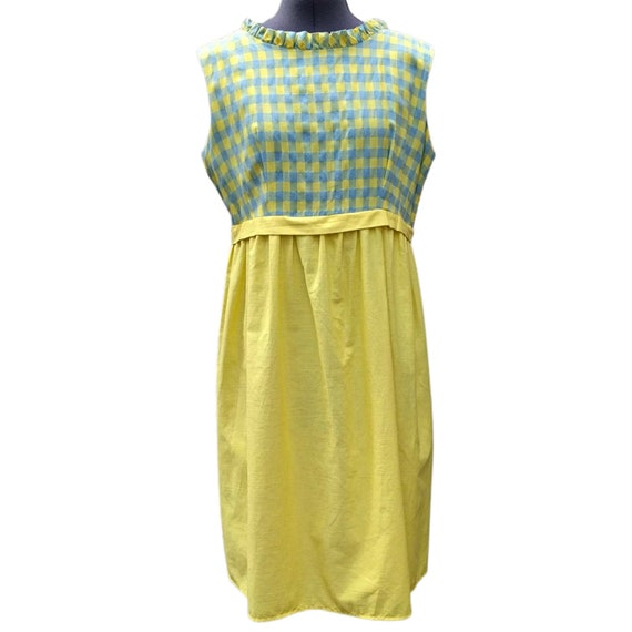 Vintage 1950's yellow and blue check sundress