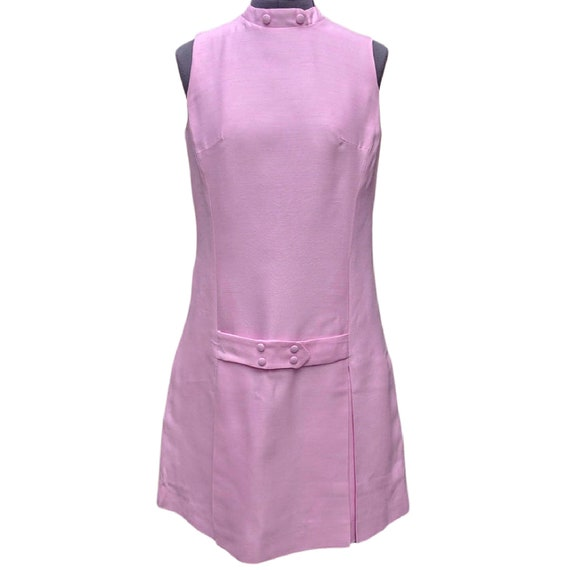 Vintage pink mini tennis style mod mini dress