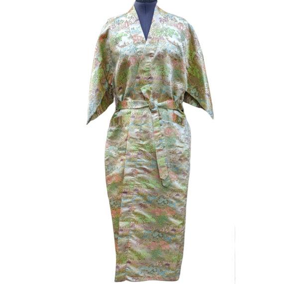 Vintage 1980's Chinese brocade robe