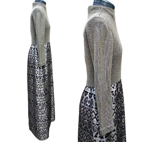 Vintage 1960's gold and black evening gown - image 6