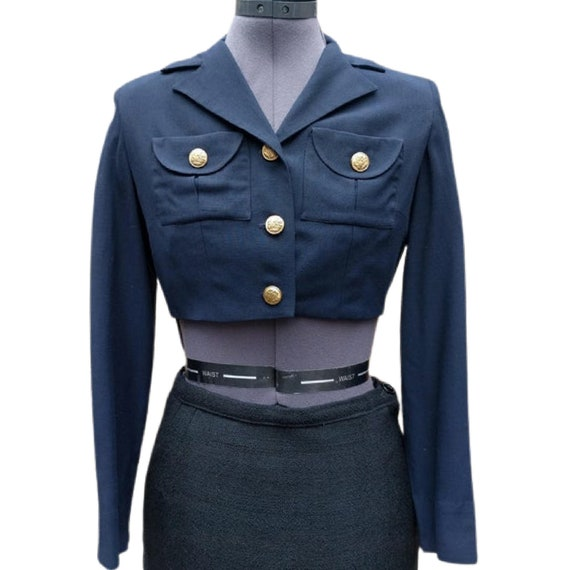 Vintage 1930's or 40's navy crop military style ja