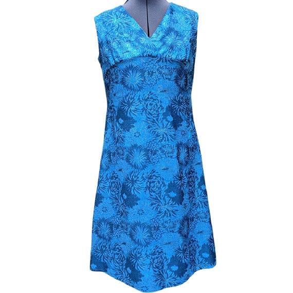 Vintage royal blue sparkly brocade dress