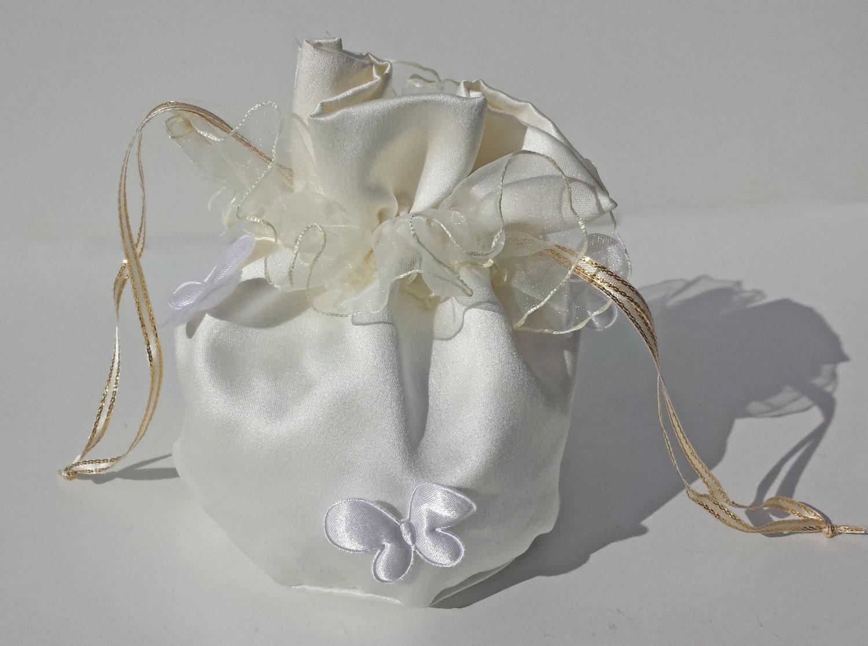 FUCHSIA PINK DUCHESS SATIN DOLLY BAG  BRIDESMAID FLOWER GIRL BNIP *free samples*