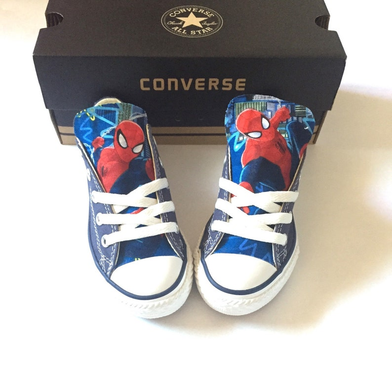 ec375a79e9e5 Spiderman Converse Shoes Kids Spider-Man Shoes Avengers