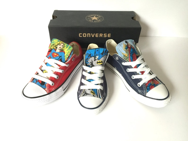 b9d34b5bb947 DC Comics Converse Shoes Justice League Shoes Superman