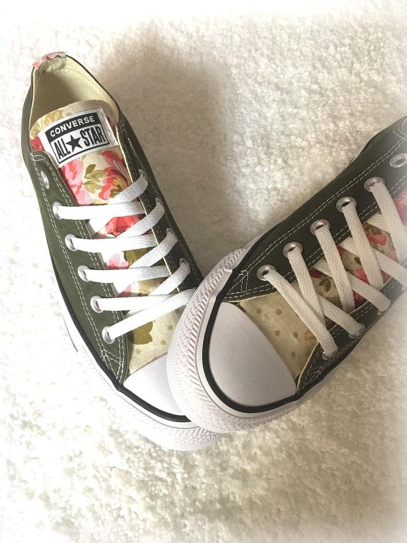 14ce17942942 Floral Converse Shoes Floral Sneakers Flower Converse