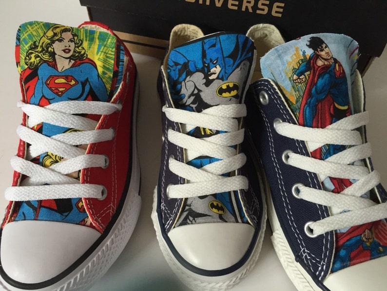 b9d34b5bb947 DC Comics Converse Shoes Justice League Shoes Superman