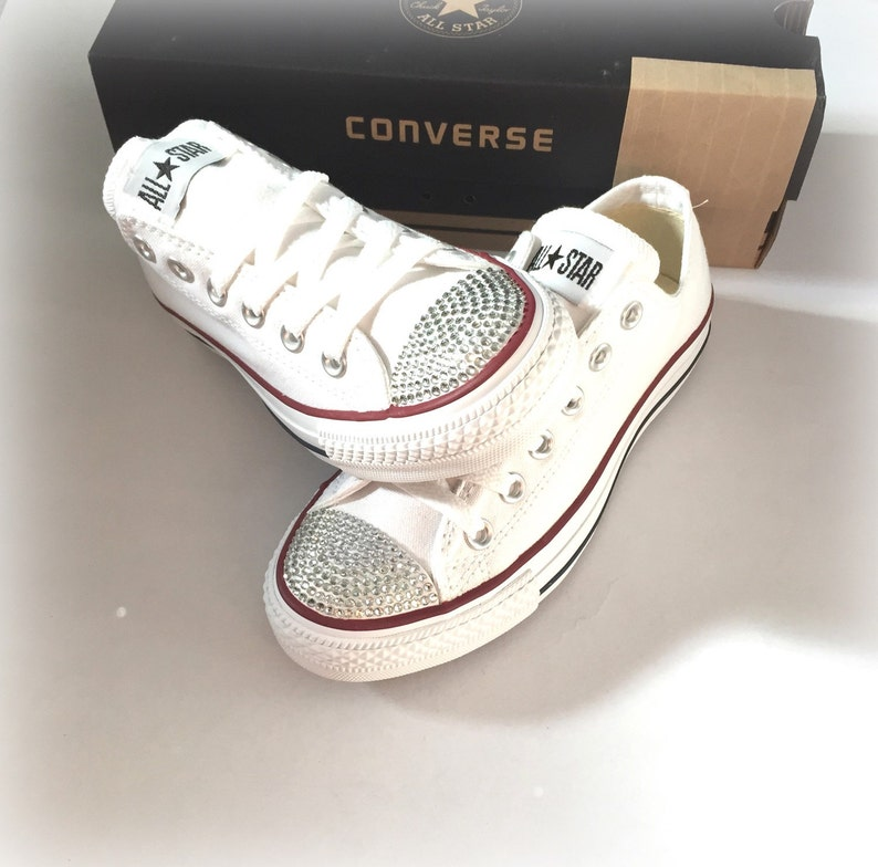 1a2580b800a4 Rhinestone Converse Shoes Women s Bling Converse Shoes