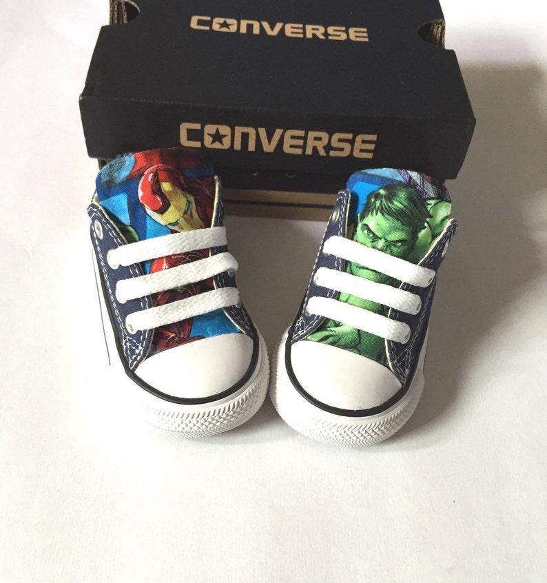 Avengers Marvel Comics Shoes Converse Avengers Shoes Kids image 0