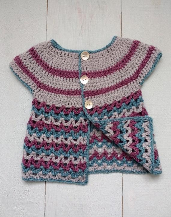 Baby Strickjacke Baby Pullover Baby Mädchenpullover Häkeln Etsy