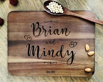 Personalized Cutting Board Personalized Custom Cutting Board Wedding Gift Cutting Board Engraved Cutting Board Anniversary Cutting Board #04