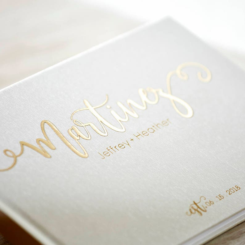 Personalized Wedding Guest Book.Wedding Guest Book Alternative Custom Wedding Guestbook Rustic Guest Book Unique Wedding Guest Book Gold Foil Guest Book 07