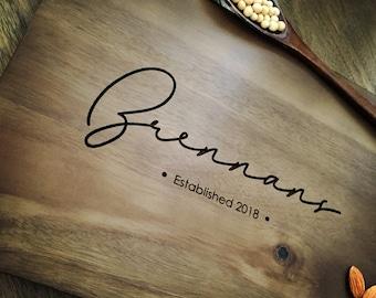 Personalized Cutting Board Personalized Custom Cutting Board Wedding Gift Cutting Board Engraved Cutting Board Anniversary Cutting Board #09