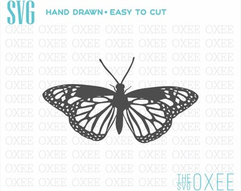 Butterfly silhouette SVG by Oxee, big butterfly svg, kids sign, Cut Files Cricut, Silhouette svg