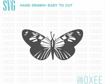 Butterfly silhouette SVG by Oxee, moth butterfly svg, kids sign, Cut Files Cricut, Silhouette svg