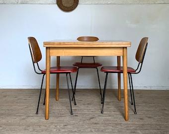 Vintage elm wallet table