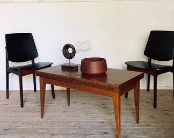 Vintage modular table in albert ducrot teak - Vintage wallet table
