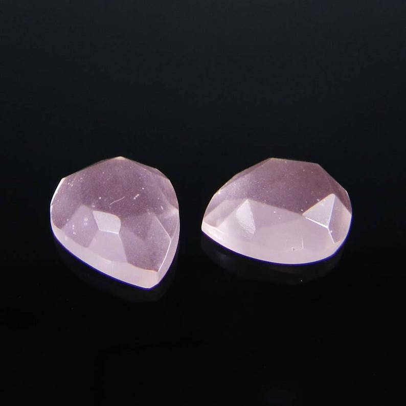 Dyed pink corundum 8 x 8 mm cushion rose cut cab semi precious stone calibrated faceted AA quality wholesale lot loose gemstone