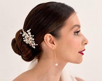 Long pearl drop earrings, freshwater pearl drop earrings, baroque pearl drop earrings